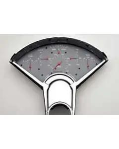 Chevy Classic Instruments Updated Gauge Kit, With Gray Face, White Numbers & Red Needles, 1955-1956