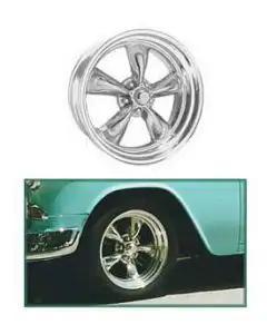 "Chevy Torq-Thrust II Wheel, 15"" x 6"", American Racing"