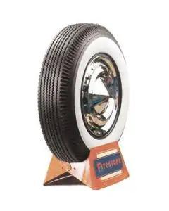 """1955-1956 Chevy Tire, 6.70 x 15 w/2-11/16"""" Wide Whitewall, Firestone"""