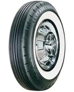 "Chevy Tire, 7.50/14 With 2-1/4"" Wide Whitewall, Goodyear, 1957"
