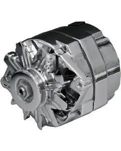 Chevy Alternator, 140 Amp, Chrome, 1-Wire, 1955-1957