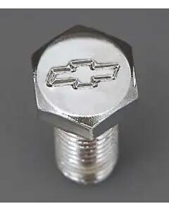 Chevy Bowtie Water Pump Bolt Set, Small Block With Short Water Pump, Chrome, 1955-1957