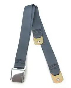 Chevy Seat Belt, Front, Blue, 1955-1957