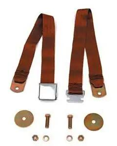 Chevy Seat Belt, Front, Copper, 1955-1957