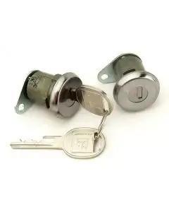 Chevy Door Locks, With Late Style Keys,1956 Hardtop Or Convertible & 1957 4-Door Hardtop