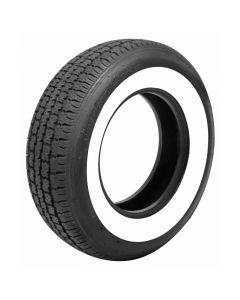 "Full Size Chevy Radial Tire, P205/75R14, 2-1/2"" Whitewall, American Classic, 1958-1961"
