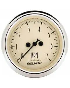 Chevelle Malibu Tachometer, 7000 RPM, Antique Beige, AutoMeter, 1964-72