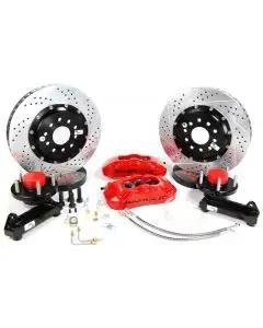 """Baer Brakes 13"""" Front Pro+ Brake System,Red Calipers"""