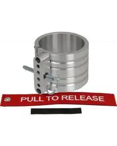 "Fire Extinguisher Mounting Clamp, Billet Aluminum, 2.6"" Diameter"