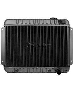 Chevelle Radiator, Small Block, 4-Row, Curved Outlet, For Cars With Automatic Transmission & With Or Without Air Conditioning, Desert Cooler, U.S. Radiator 1964-1965