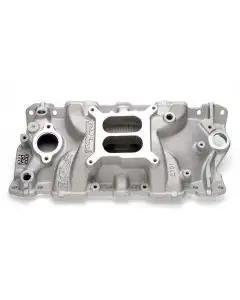 Chevelle & Malibu Intake Manifold, Small Block, Cast Finish, Performer EPS, Edelbrock, 1964-72