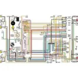 Chevy Color Laminated Wiring Diagram 1955 1957