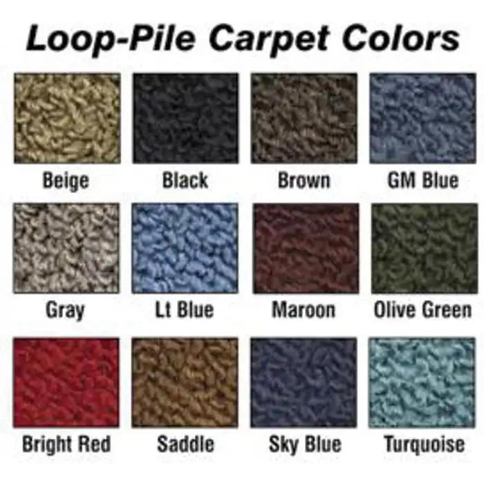 501-Black 80//20 Loop 2 Door Sedan 4 Speed ACC Brand Carpet Compatible with 1961 to 1964 Chevrolet Biscayne
