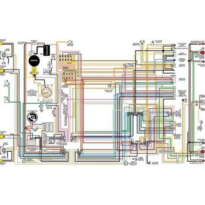 chevy color laminated wiring diagram 19551957