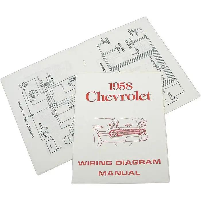 full size chevy wiring harness diagram manual 1958