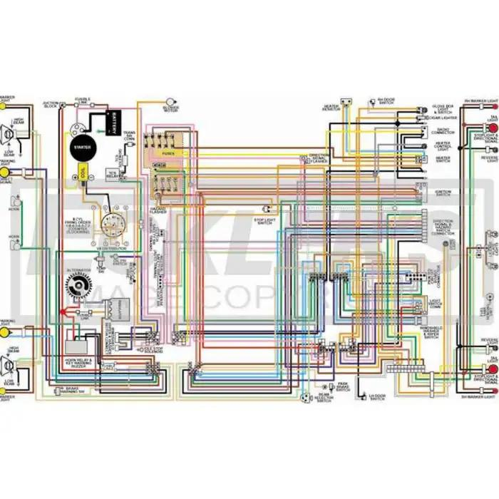 gmc truck color laminated wiring diagram  eckler's classic chevy