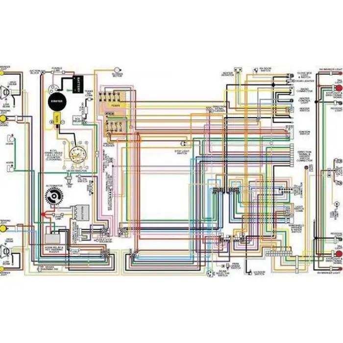 Chevelle & Malibu Color Laminated Wiring Diagram, 1964-1975Eckler's Classic Chevy