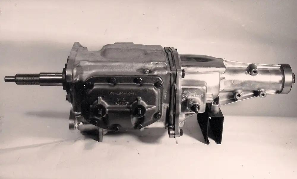 Typical Muncie 4-speed, driver's side