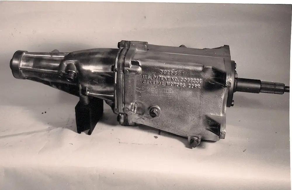 Typical Muncie 4-speed, passenger side